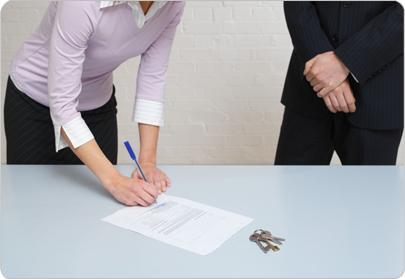 Подписание договора на право собственности